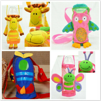 Kids Neoprene Cartoon Water Drink Bottle Carrier Insulated Cover Bag Holder CB