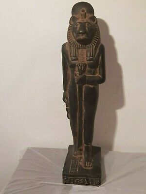 Rare Antique Ancient Egyptian Statue God Sekhmet Lion War Army Hunt 1730-1690BC