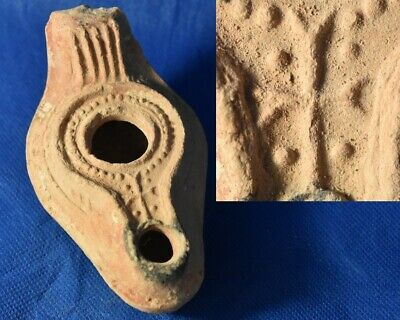 Judaea, Holy Land, Byzantine Oil Lamp Terracotta. circa 5-7cen. AD.