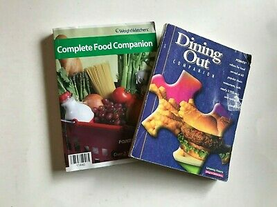 Weight Watchers 2002-2006 Editions COMPLETE FOOD / DINING OUT COMPANION Books