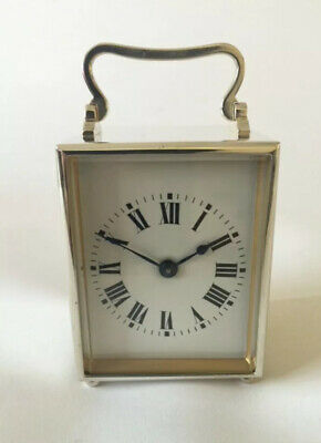 Silver Carriage Clock,  Silver Plated, Mantle Clock