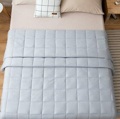 Weighted Blanket Reduce Stress Full Queen king Promote Deep Sleep Glass Beads