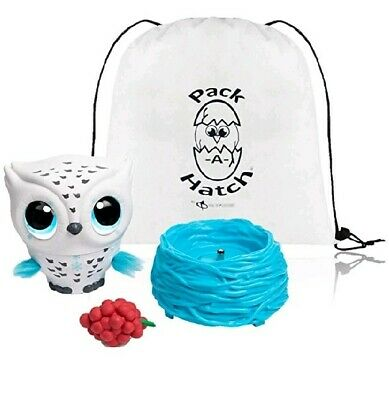 Owleez , Flying Baby Owl With Exclusive Pack-A-Hatch With Lights & Sounds(White)