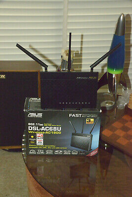 ASUS DSL-AC68U 4 Port 1300Mbps Wireless Router (DSL-AC68U) NEAR NEW NEVER USED