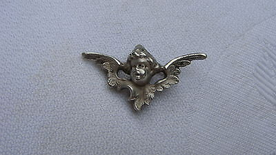 Art Nouveau William Kerr Sterling Silver Cherub Pin Watch Holder Chatelain