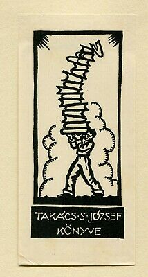 Ex libris by Varkohyi  Book stack