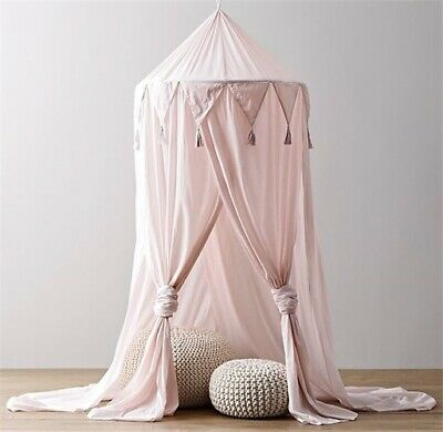 Triangular Lace Baby Crib Bed Canopy Four-door Mosquito Baby Room Decoration