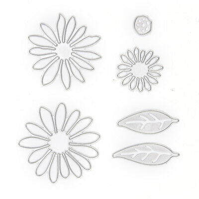 chrysant flower with leaves metal cutting dies scrapbooking decorative craft an