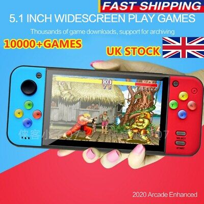 Portable Q7 PSP 8G 128 Bit UK Handheld Game Console Retro 10000+Games Player MP4
