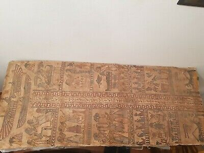 Rare Antique Ancient Egyptian linen Cover mummy Book Of Dead museum2589–2566 BC