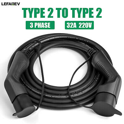 EV Charging Cable Type 2 To Type 2 Electric Car Plug Charger 3 Phase 22KW 5M 32A