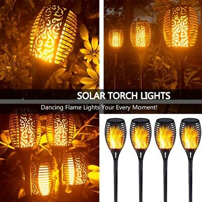 4X Solar Outdoor Garden Wireless Christmas LED Lamp Security Rechargeable Lights