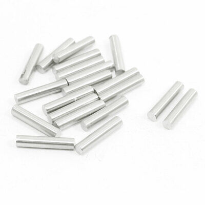 20Pcs Stainless Steel 15mm x 3mm Round Rod Stock for RC Airplane Model