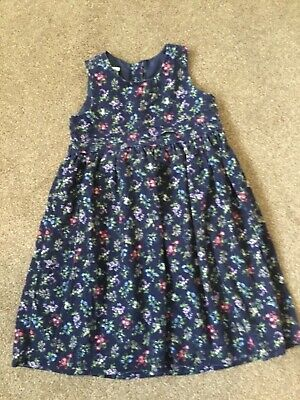 Laura Ashley Vintage Mother & Child Needle Cord Floral Dress Age 4
