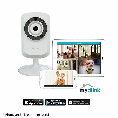 D-Link DCS-932L Wireless Day/Night Cloud IP Home Camera Monitor iOS or Android