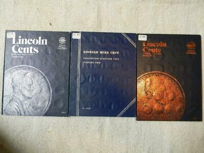 3 Vintage Whitman Folders 1909-2013 235 Coins Lincoln Cent Collection Wm #4 8193