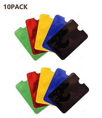5PACK RFID Secure Sleeve Credit Card Case Holder Blocking Protector Anti Theft