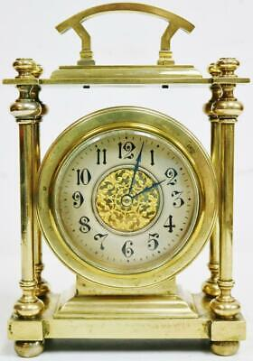 Luxury Antique Victorian French 8 Day Solid Brass Carriage Clock