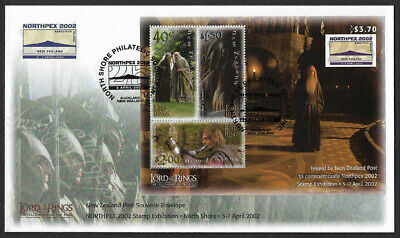 2002 New Zealand Lord of The Rings Souvenir Envelope Northpex Stamp Exhibition