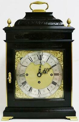 Superb Antique C1820 Ebonised Triple Fusee 8 Bell Musical Bell Top Bracket Clock