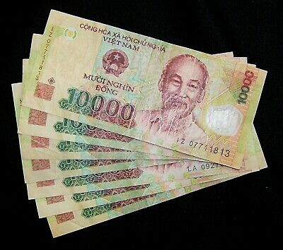 2011-2015 UNC World Currency VIETNAM 10000 Dong 10,000 P-119 NEW Polymer