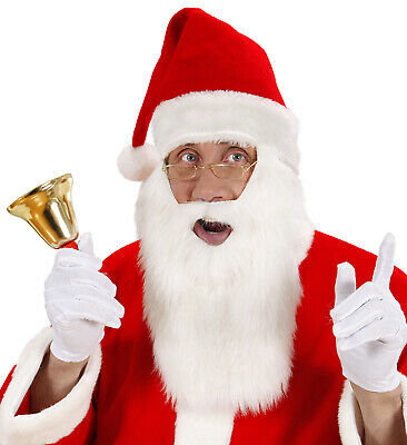 Santa Hat with Beard and Moustache Fun Father Christmas Disguise Costume Festive