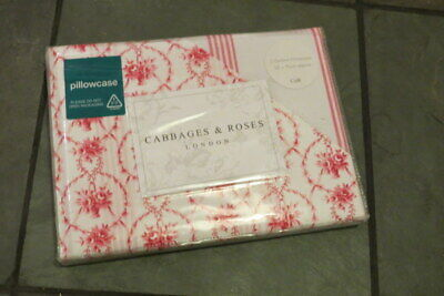BNWT Cabbages & Roses JULIA Pair of Oxford Pillowcases 200 Thread