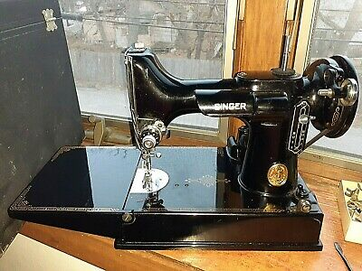 1940s featherweight singer sewing machine AG979587 PEDDLE & CASE & MORE WORK GRT
