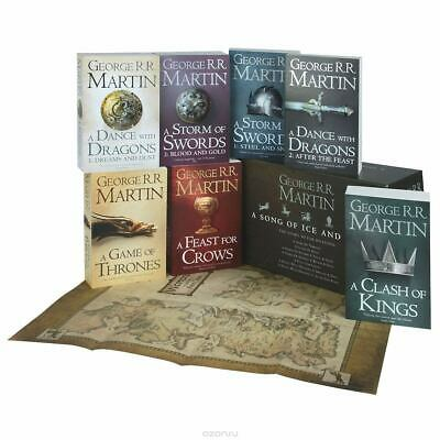 Game of Thrones - A Song of Ice and Fire Box Set with Maps | 9780007477159 | New