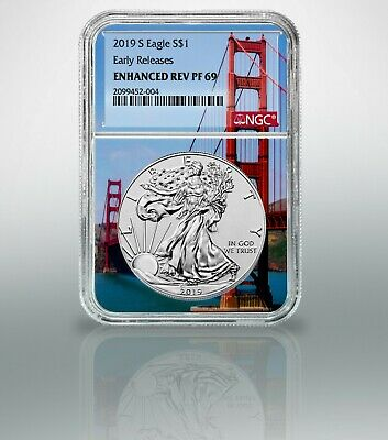 2019-S Enhanced Reverse NGC Proof 69 $1 American Silver Eagle EARLY RELEASES