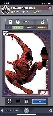 Topps Marvel Collect Card Trader Daredevil Suit SPIDEY SUITS 1ST PRINTING 250cc