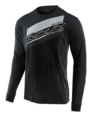 Troy Lee Designs 2020 Licensed Polaris RZR Racing LS Shirt Charcoal Heather Mens
