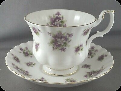 Royal Albert Sweet Violets Cup and Saucer (4 Avail)