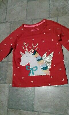 Girls Christmas Pyjama  top ,no bottoms,age 3 worn once from Marks&Spencer