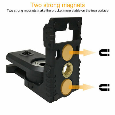 3/8 Inch Magnetic Wall Bracket 180 ° L-shaped Tripod Adapter Laser Levels Holder