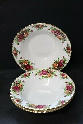 Royal Albert Old Country Roses  Four Soup Bowls