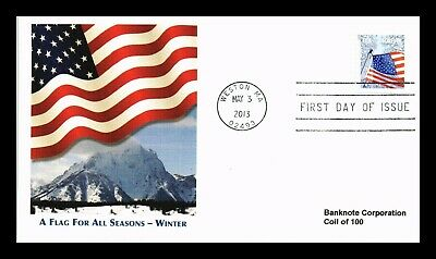 Dr Jim Stamps Us Flag For All Seasons Winter Forever Coil First Day Cover