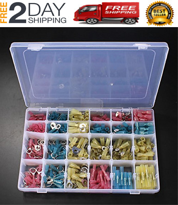 USA 480 PC 3M HEAT SHRINK WIRE CONNECTOR ASSORTMENT AUTOMOTIVE MARINE KIT