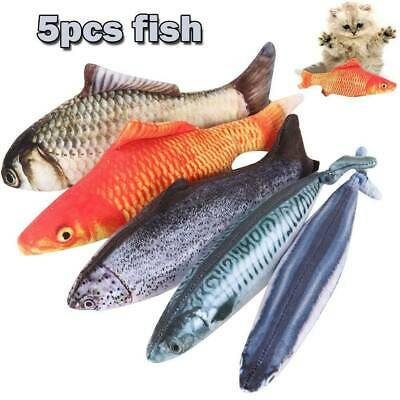 5X Realistic Fish Cat Funny Crazy Toy Catnip Pet Toys Interactive festival Gift
