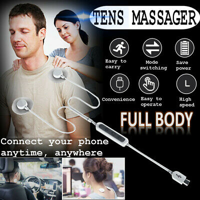 Portable Tens Massager Pads Low Frenquency Pulse Mobile Muscle Relax Full