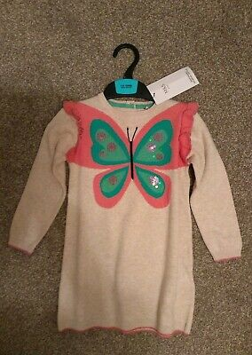 New Girls Marks & Spencer Butterfly Dress Or Top With Leggings Age 2-3 Years.