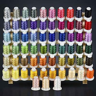 63 Colors Polyester & Sewing Embroidery Machine Thread Kit 500M Every Spool