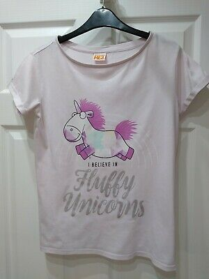 ex RIVER ISLAND Girls White Top Tee T Shirt Age 7-8 Years Old