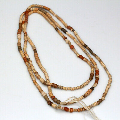 Rare Egyptian Terracotta Beads Necklace Circa 300 Bc - 100 Ad
