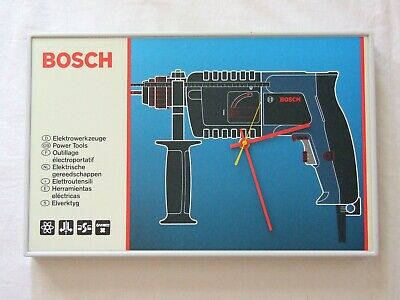 Vintage Bosch Drill Advertising Sign Wall Clock (Brand New Old Stock)