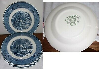 4 Currier & Ives By Royal 9 inch Plates.  In very good condition.  No chips.