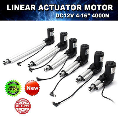 "Heavy Duty  12V 4000N 2-16""inch 50-400MM Stroke Electric Linear Actuator Motor"