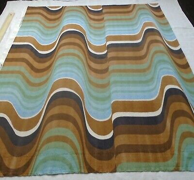 Vintage HEALS 'FREQUENCY' 1960s Textile by Barbara Brown...