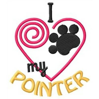 "I ""Heart"" My Pointer Long-Sleeved T-Shirt 1369-2"