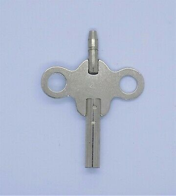 New Double Ended Steel Winding Key For Antique French Clock Size 4 4mm x 1.95mm